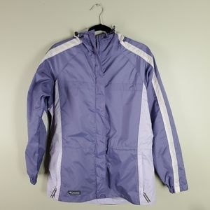 Columbia Purple Spring Jacket with Hood Sz M